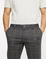 only&sons Only & Sons - Smaltoelopende geruite broek in grijs