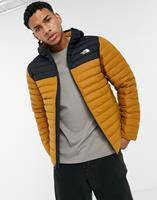 thenorthface The North Face - Stretch Down - Jack met capuchon in bruin/zwart
