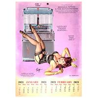 fiftiesstore 2021-2022 Kalender Ami I Jukebox Pin Up Ludella Hahn Bennies Fifties