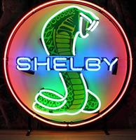 fiftiesstore Shelby Neon Verlichting - Blauwe Shelby Letters - 65 x 65 cm