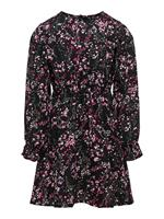 Only Printed Long Sleeved Dress Dames Zwart