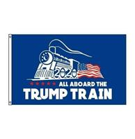 fiftiesstore All Aboard Trump Train 2020 Vlag