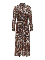 Only Allover Print Midi Dress Dames Beige