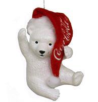 fiftiesstore Coca-Cola Ijsbeer Welp Met Kerstmuts Kerst Ornament