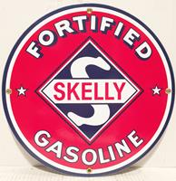 fiftiesstore Skelly Fortified Gasoline Emaille Bord 12 / 30 cm