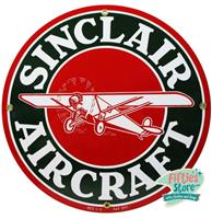 fiftiesstore Sinclair Aircraft Gasoline Logo Emaille Bord 12 / 30 cm