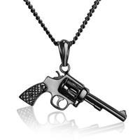 mendes kettinghanger Edelstaal Revolver Zwart