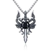 mendes heren ketting Edelstaal Dragon Sword