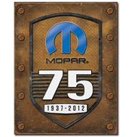 fiftiesstore Mopar 75 Years 1937-2012 Metalen Poster