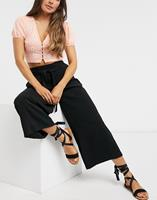 newlook New Look - Cropped broek in zwart