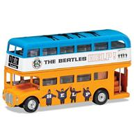 fiftiesstore The Beatles - Help! London Bus Die Cast 1:64