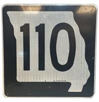 fiftiesstore Missouri Route 110 Highway Origineel Straatbord