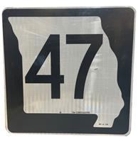 fiftiesstore Missouri Route 47 Highway Origineel Straatbord