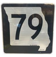 fiftiesstore Missouri Route 79 Highway Origineel Straatbord