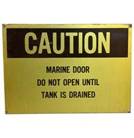 fiftiesstore Caution Marine Door Straatbord - Origineel