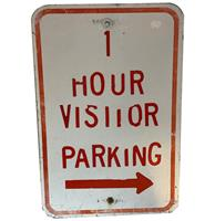 fiftiesstore 1 Hour Visitor Parking Straatbord - Origineel