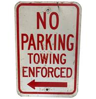 fiftiesstore No Parking Towing Enforced Straatbord - Origineel