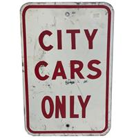 fiftiesstore City Cars Only Straatbord - Origineel