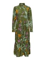 Only Printed Midi Dress Dames Green