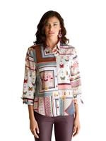 Amy vermont Blouse  Wit::Beige::Blauw::Rood