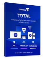 F-Secure Total Security & VPN 2021 3 apparaten / 1 jaar
