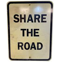 fiftiesstore Share The Road Straatbord - Origineel