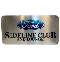 fiftiesstore Ford Sideline Club And Lounge Aluminium Bord - 81 x 41 cm