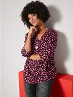 Angel of style Blouse  Zwart::Rood::Pink