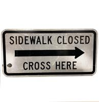 fiftiesstore Sidewalk Closed Bord - Origineel 30,5 x 61