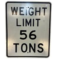 fiftiesstore Weight Limit 56 Tons Straatbord - Origineel