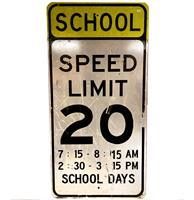 Fiftiesstore Speed Limit Bord - Origineel - 122 x 61