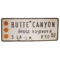 Fiftiesstore Butte Canyon Straatbord - Origineel