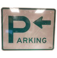 Fiftiesstore Parking Left Arrow Metalen Straatbord - Origineel
