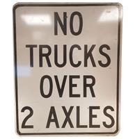 Fiftiesstore No Trucks Over 2 Axles Metalen Straatbord - Origineel