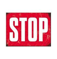 Fiftiesstore Magneet STOP