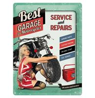 Fiftiesstore Metalen Bord 30x40 Best Garage Groen