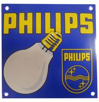 Fiftiesstore Philips Lamps Emaille Bord - 13 x 13 cm