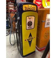 Fiftiesstore Martin & Schwartz Blue Sunoco Benzinepomp - Gerestaureerd