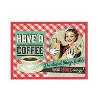 Fiftiesstore Have A Coffee Magneet