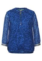 Street One Printed chiffonblouse w tape