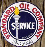 Fiftiesstore Standard Oil Company Indiana Emaille Logobord