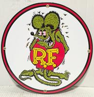 Fiftiesstore Rat Fink Emaille Logo Bord 12 / 30 cm