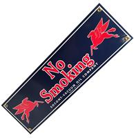 Fiftiesstore No Smoking Socony-Vacuum Oil Company Emaille Bord