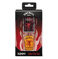 Fiftiesstore Zippo Fireball Whisky Aansteker En Shot Glaasje Cadeauset
