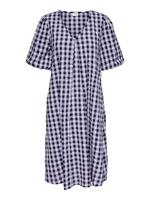 Only Checked Midi Dress Dames Paars