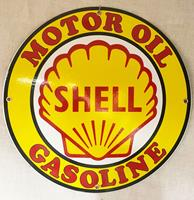 Fiftiesstore Shell Motor Oil Gasoline Rond Emaille Bord 30 cm