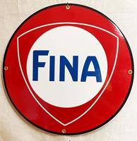 Fiftiesstore Fina Logo Rond Emaille Bord 30 cm