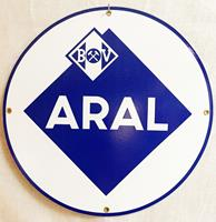 Fiftiesstore Aral Logo Rond Emaille Bord 30 cm