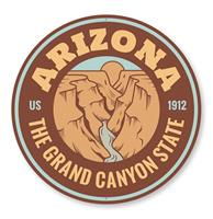 Fiftiesstore The Grand Canyon State Bord