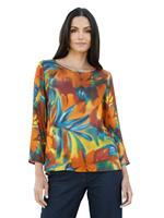 AMY VERMONT Blouse  Roest::Petrol::Geel